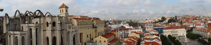 Vue à partir de dessus de Santa Justa Lift Images libres de droits