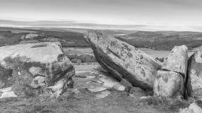 Vue à partir du bord blanc, Derbyshire photographie stock