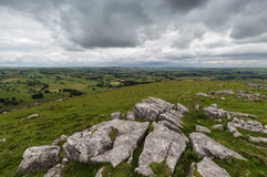 Vue à partir du dessus à la colline de Wolfscote Image libre de droits