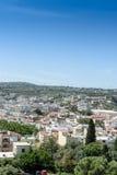 Vue à partir du dessus à la ville grecque Image libre de droits