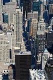 Vue à partir du dessus de l'Empire State Building Image libre de droits