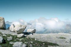 Vue à partir du dessus de la montagne Photo stock