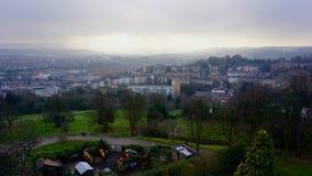 Vue à travers Bristol From Cabot Tower Photographie stock libre de droits