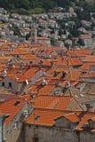 Vue à travers Dubrovnik Image libre de droits
