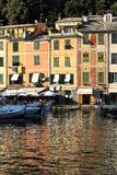 Vue à travers la baie chez Portofino Photo stock