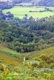 Vue à travers la campagne du Devon Photographie stock libre de droits