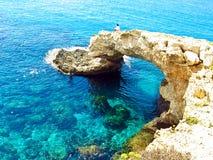 Vue à une belle côte rocheuse Images stock
