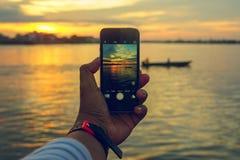 Vue à votre téléphone Images libres de droits