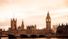 Vue âgée de Londres Images libres de droits
