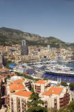 Vue éditoriale du port gauche Monte Carlo Monaco Image stock