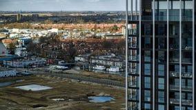 Vue élevée au-dessus d'Amsterdam Photos libres de droits