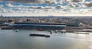 Vue élevée au-dessus d'Amsterdam Photo libre de droits