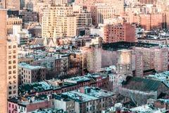 Vue élevée de Manhattan, New York City Image libre de droits
