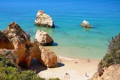 Vue élevée de plage du DA Rocha de Praia, Portugal Photographie stock
