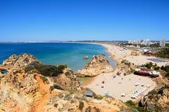 Vue élevée de plage du DA Rocha de Praia, Portugal Photographie stock libre de droits