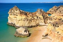 Vue élevée de plage du DA Rocha de Praia, Portugal Photos stock