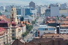 Vue élevée de ville de Cluj Napoca Photographie stock libre de droits