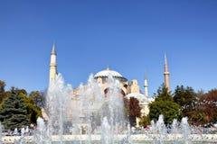 Vue éloignée de Hagia Sophia Ayasofya Photo stock