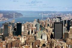 Vue éloignée George Washington Bridge Images libres de droits