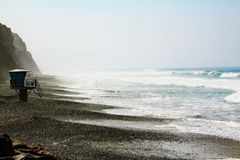 Vue étonnante de l'océan pacifique chez Torrey Pines, la Californie images stock