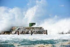 Vue étonnante de mer, orage étonnant dans la dinde d'été image libre de droits