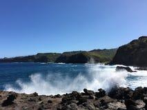 Vue étonnante de nord-ouest, Maui Photo stock