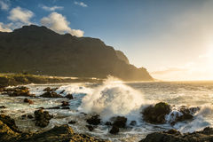Vue étonnante de plage à Buenavista del Norte, Ténérife, Îles Canaries Photographie stock libre de droits