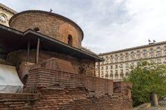 Vue étonnante de St George Rotunda d'église à Sofia, Bulgarie Photographie stock