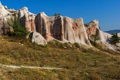 Vue étonnante du mariage de pierre de phénomène de roche, Bulgarie image libre de droits