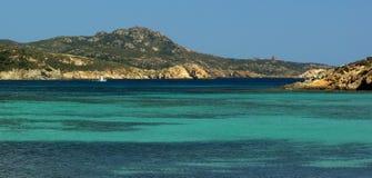 Vue étonnante - plage de Malfatano Photos libres de droits