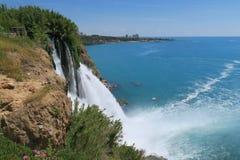Vue étroite à la cascade de Duden à Antalya - en Turquie Image stock