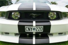 Vue étroite avant du model 2010 de Ford Mustang Photographie stock libre de droits