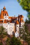 Vue étroite de château de son (château de Dracula) image libre de droits