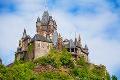 Vue étroite de château impérial de Cochem Image stock