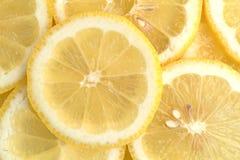 Vue étroite de tranches de citron Photo libre de droits