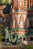 Vue étroite du saint Basil Church Image libre de droits