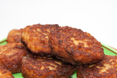 Vue étroite sur des boulettes de viande du plat Photos stock