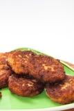Vue étroite sur des boulettes de viande du plat Photos libres de droits