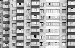 Vue étroite sur le bâtiment residental Photo libre de droits