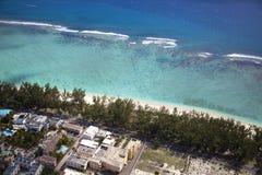 Vue Îles Maurice de ciel Image stock