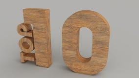 Vue 2 en bois du principal 10 Images stock