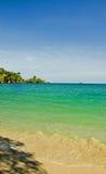 Vue 4 de plage Photos libres de droits