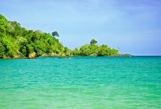 Vue 5 de plage Photo stock