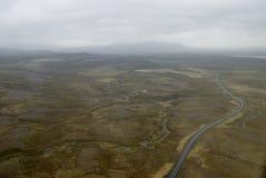 Vue aérienne à la route et à l'horizontal Photos stock