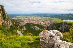 Vue aérienne à la ville de Vratsa, Bulgarie Photos libres de droits