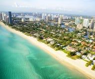 Vue aérienne à Miami Images libres de droits
