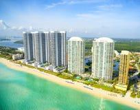 Vue aérienne à Miami Photo libre de droits