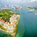 Vue aérienne à Miami image stock