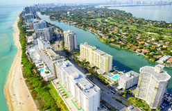 Vue aérienne à Miami Photo stock