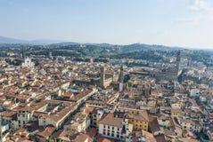 Vue aérienne à partir de dessus de Duomo Image stock